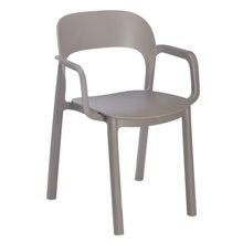 Pack de 4 sillas con brazos chocolate Ona Resol