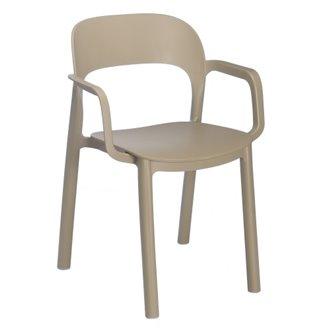 Set de 4 sillas con brazos arena Ona Resol