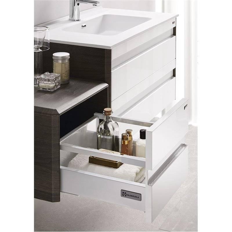 Conjunto baño de mueble + lavabo + espejo 120 dos senos ...