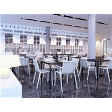 Mesa blanca BARCINO 70x70 de Resol