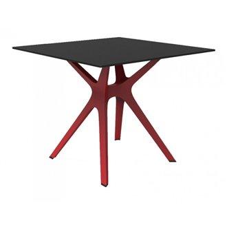 Mesa roja y negra VELA S 80 de Resol