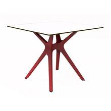 Mesa roja y blanca VELA S 90 de Resol