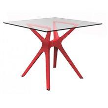 Mesa roja cristal VELA S 90 de Resol