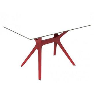 Mesa roja y blanca VELA M de Resol