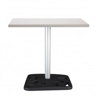 Mesa pie central negro NET de Resol