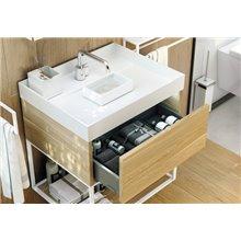 Mueble roble claro con lavabo the grid COSMIC