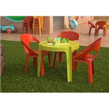 Set de 4 mesas infantiles verde lima Rita Resol