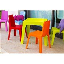 Set de 4 sillas infantiles en rosa Julieta Resol