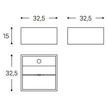 Lavabo cuadrado Compact COSMIC