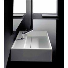 Lavabo cuadrado con borde Compact COSMIC
