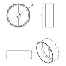 Lavabo circular Modular COSMIC