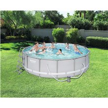Piscina redonda 427x107cm POWER STEEL Bestway