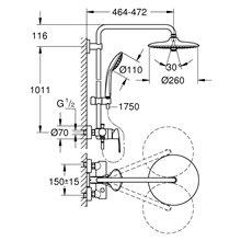 Columna de ducha con monomando Grohe Euphoria System 260