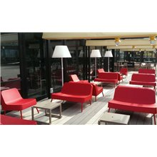 Sofá de exterior rojo BOB de Resol