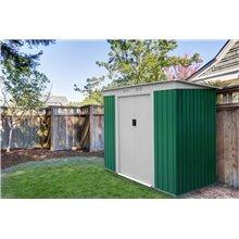 Caseta metálica 2,43m² Buckingham verde Gardiun