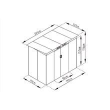 Caseta metálica 2,43m² Buckingham gris Gardiun