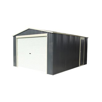 Garaje metálico 20,09m² Essex gris Gardiun