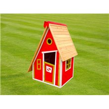 Casita infantil 1,24m² Peter rojo Outdoor Toys