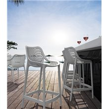 Pack de 4 taburetes blancos Air Bar (Grid) Resol