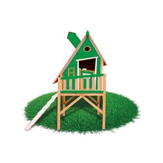 Casita infantil 2,28m² Gulliver verde Outdoor Toys