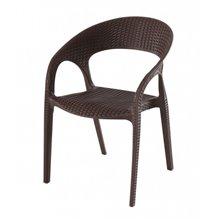 Conjunto de 5 sillas con brazos marrón Bird Resol