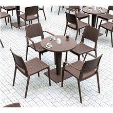 Pack de 4 sillas con brazos marrón Indiana Resol