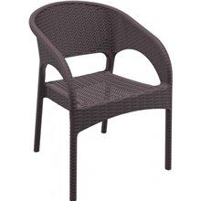 Juego de 4 sillas con brazos en marrón Panama Resol