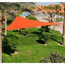 Toldo vela triángulo 5x5x5m naranja Outsunny