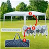 Carpa plegable 6x3x2,55m blanca Outsunny