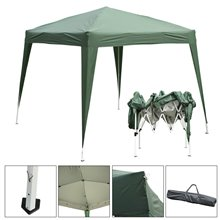 Carpa plegable 3x3x2,4m verde Outsunny