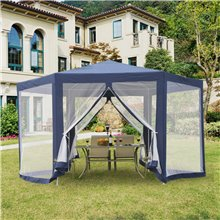Carpa mosquitera hexagonal azul Outsunny