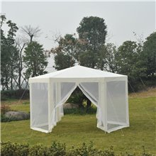 Carpa mosquitera hexagonal blanca Outsunny