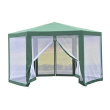 Carpa mosquitera hexagonal verde Outsunny