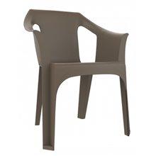 Set de 31 sillas con brazos marrón Cool Resol