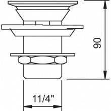 Válvula desagüe VELA c/ rebosadero
