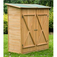 Caseta de madera 140x75x160 Outsunny