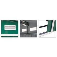Caseta metálica verde 181x277x192 Outsunny