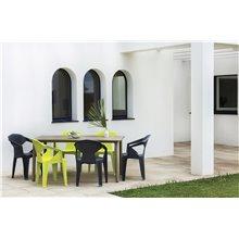 Set de 24 sillones monobloc verde lima Delta Resol