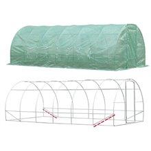 Invernadero verde de acero 600x300x200 Outsunny