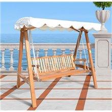 Silla balancín madera de jardín 200x130x185...