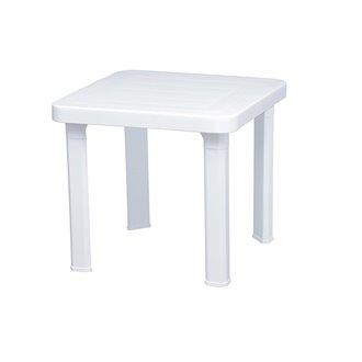 Set de 6 mesas auxiliares blancas Aandorra Resol