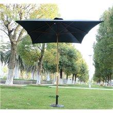 Parasol Cuadrado Negro Outsunny