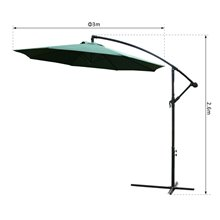 Parasol Reclinable Verde Oscuro Outsunny