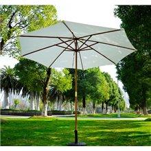 Parasol Redondo blanco crema 250x300 Outsunny