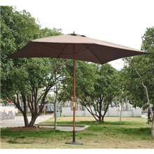 Parasol Cuadrado Chocolate 200x300 Outsunny