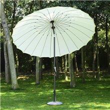 Parasol Redondo Blanco y Marrón . 245x250 Outsunny
