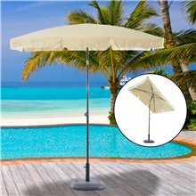 Parasol Rectangular Beige Outsunny