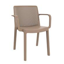 Set de 4 sillas color arena con brazos Fresh Resol