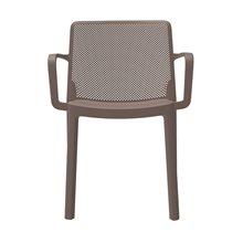 Set de 4 sillas color chocolate con brazos Fresh Resol