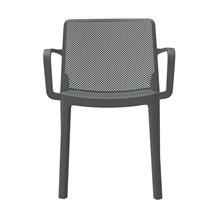 Pack de 4 sillas apilables gris oscuro Fresh Resol